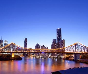 Brisbane skyline at night