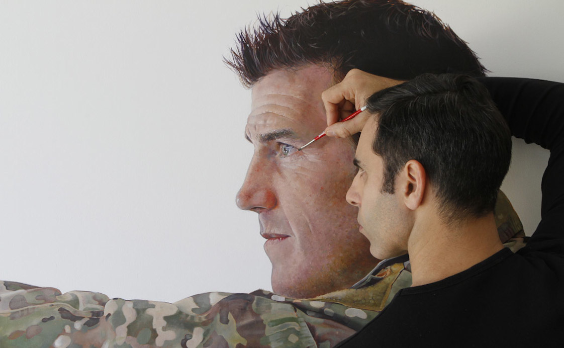 Michael Zavros painting Australian War Memorial Victoria Cross Medal winner Ben Roberts-Smith