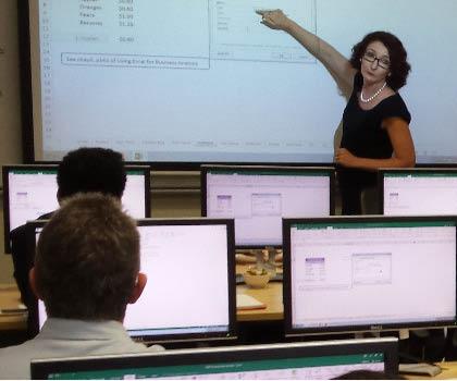Danielle teaching class