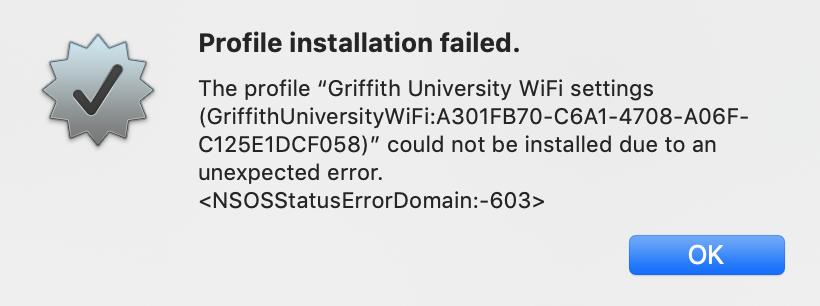 Mac error -603