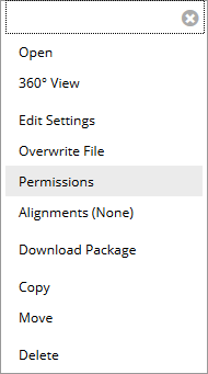 Content Collection file context menu