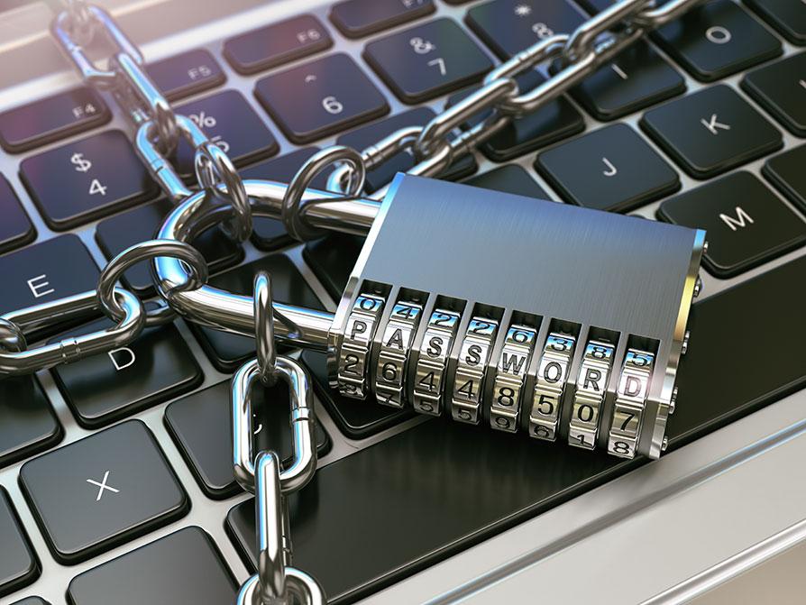 Computer password locked