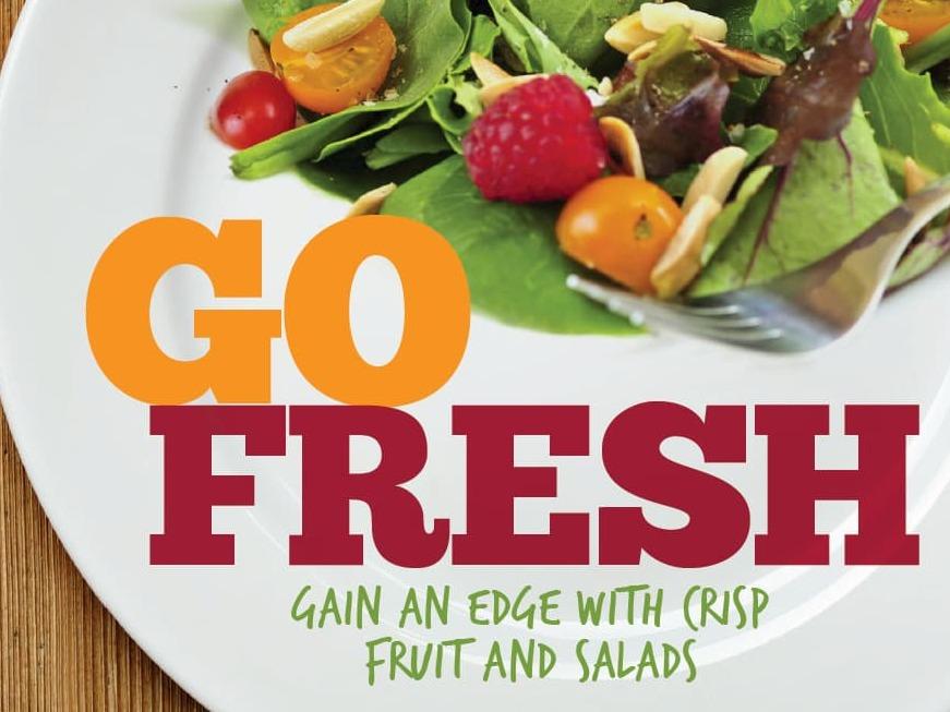 Fresh food on plate