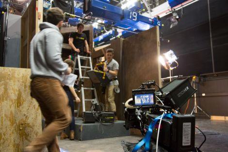 Students on set