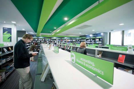 bookshop shelves