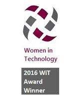Women in technology award winner
