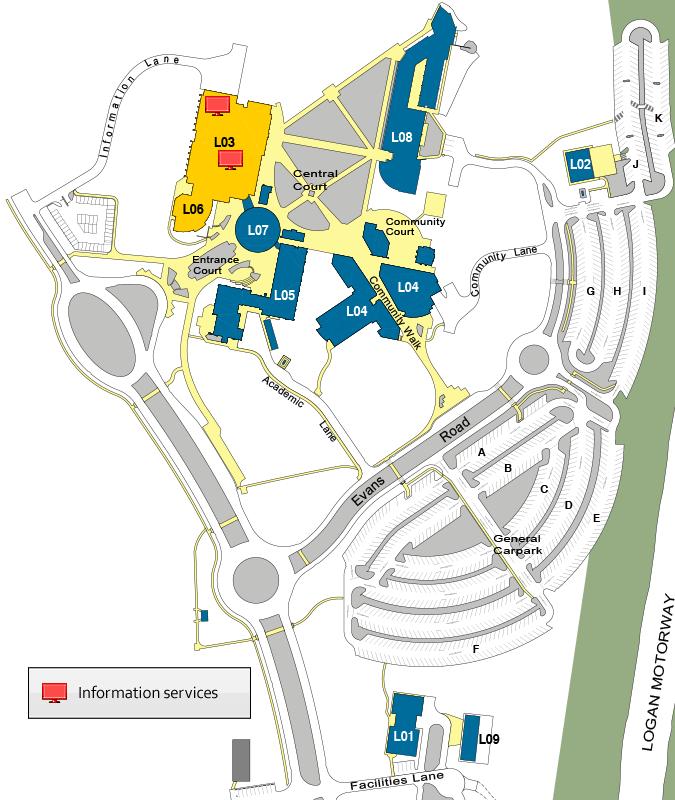John A Logan Campus Map.Print And Digital Design