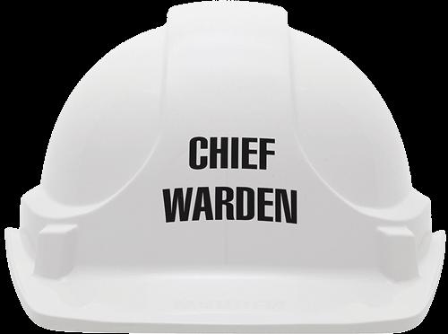 White chief warden hat