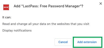Add LastPass Extension