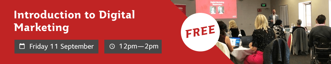 Free Lunch & Learn: Introduction to Digital Marketing. September 11. 12pm - 2pm.