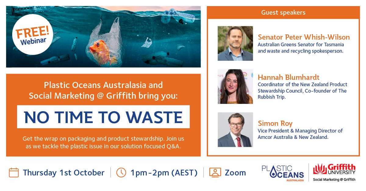 Join our next No Time To Waste conversation featuring a trans-Tasman panel from industry and government.