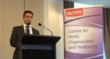 Bruce Highfield of Olam International speaks at the WOW/ GBS Alumni breakfast