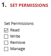 Set Permissions option on a Content Collection file