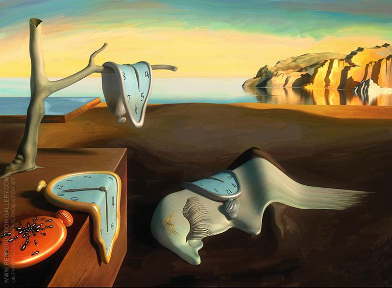 Reproduction of Salvador Dali's The Persistence of Memory