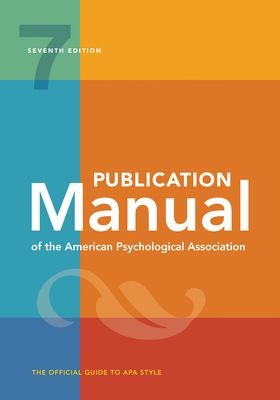 APA 7 book cover