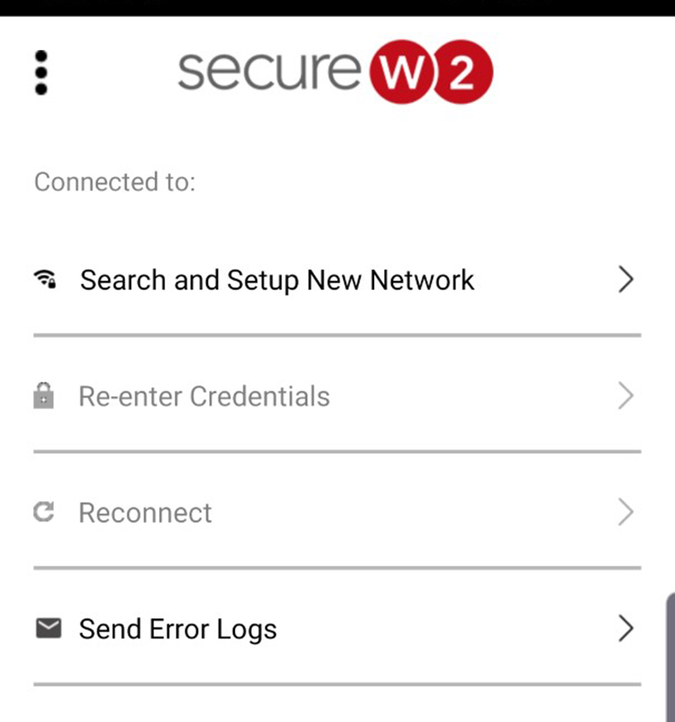 Search and Setup new network