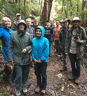Day 3 of the Symposium was a field trip at Springbrook. 14 of the Symposium researchers braved the Twin Falls Track.