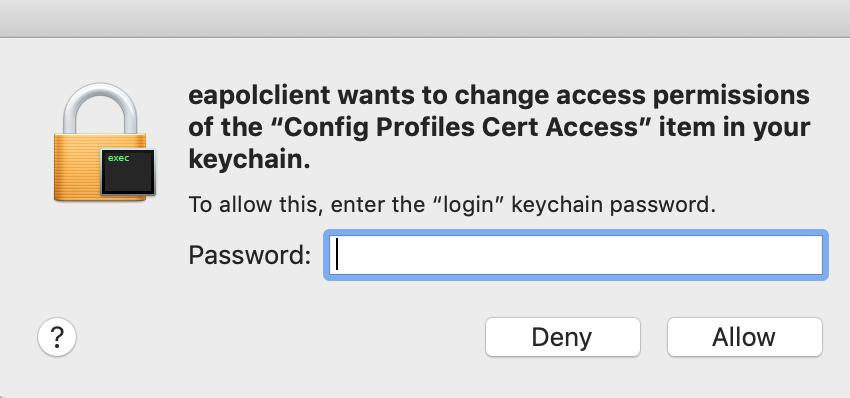 Keychain Password
