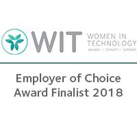 Women in Technology - Employer of Choice award finalist 2018
