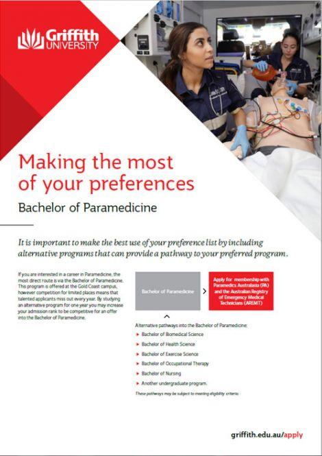 paramedicine factsheet